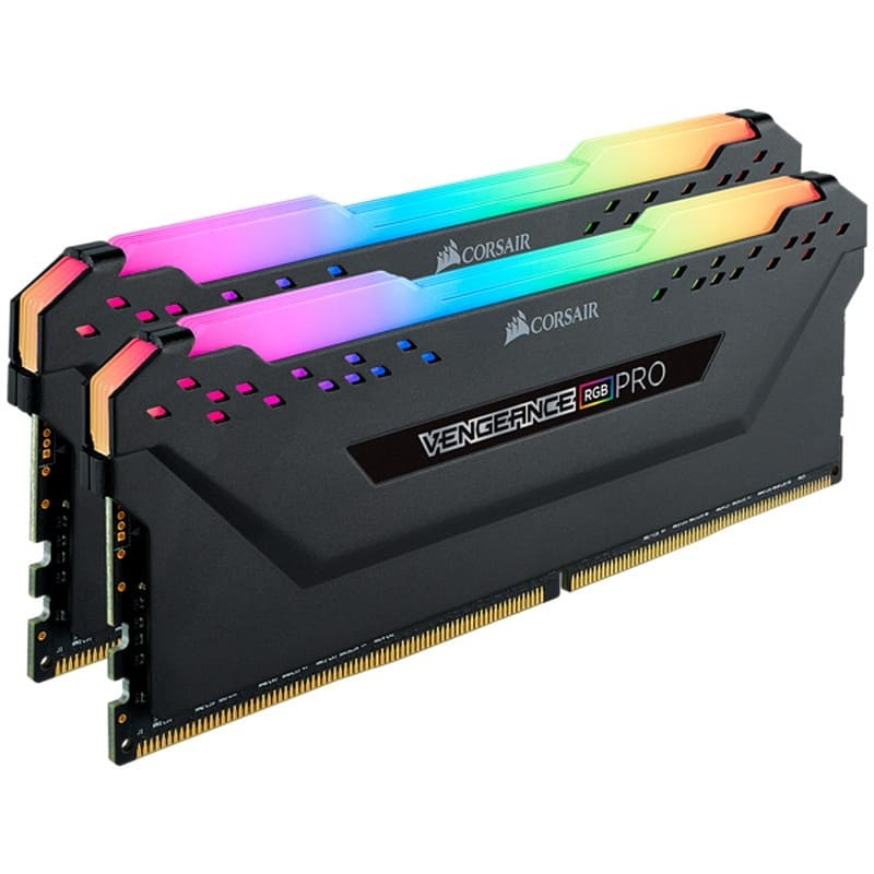 Memória: 16GB RGB Corsair 3200 CL16 2x8 ou Kingston